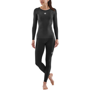 Skins Series-3 Compression Langarm Oberteil Damen black black