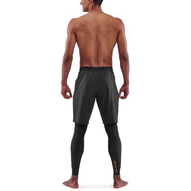Skins Series-5 Superpose Lange Tights Herren black