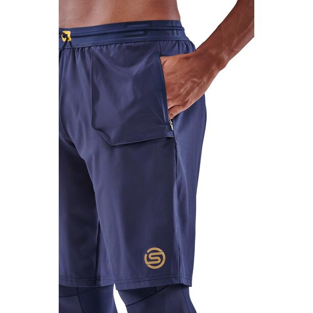 Skins Series-5 Superpose Long Tights Men, bleu