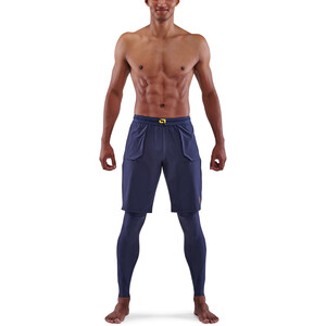 Skins Series-5 Superpose Lange Tights Herren navy blue navy blue