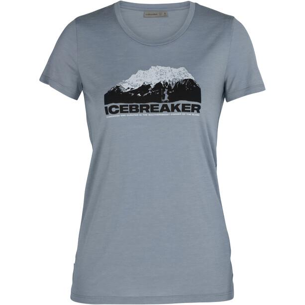 Icebreaker Tech Lite Low Crewe SS Shirt Mountain Motiv Women gravel