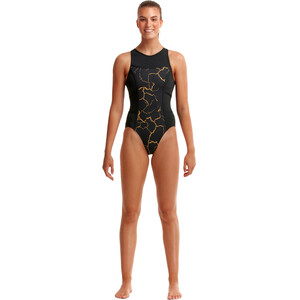 Funkita Hi Flyer Badeanzug Damen cracked gold cracked gold