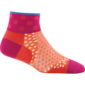 DARN TOUGH VERMONT Dot 1/4 Ultra Light Socks Women coral coral