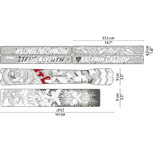 DYEDBRO Chainsaw Rahmenschutz Kit transparent/weiß