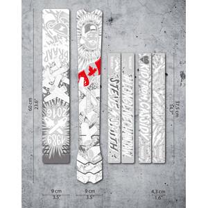 DYEDBRO Chainsaw Frame Protection Kit, transparent/blanc transparent/blanc
