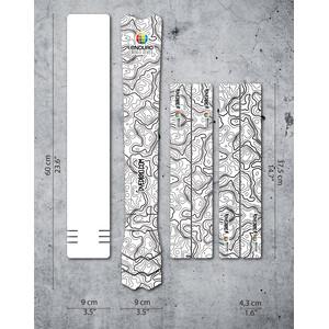 DYEDBRO Enduro World Series Kit Protección Cuadro, transparente/negro transparente/negro