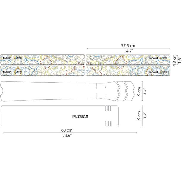 DYEDBRO Enduro World Series Rahmenschutz Kit transparent/bunt