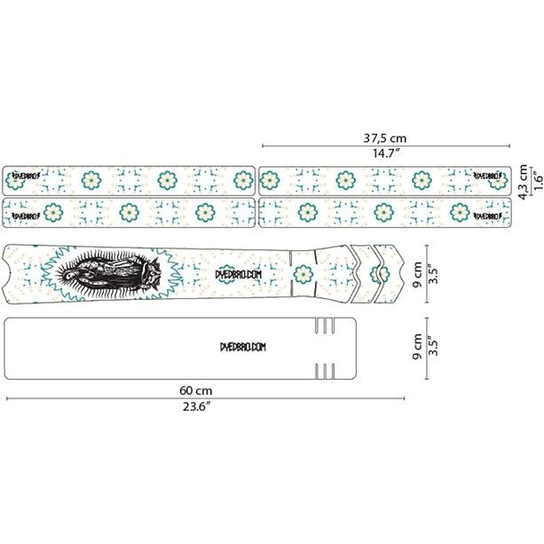 DYEDBRO Guadalupe Rahmenschutz Kit transparent/weiß