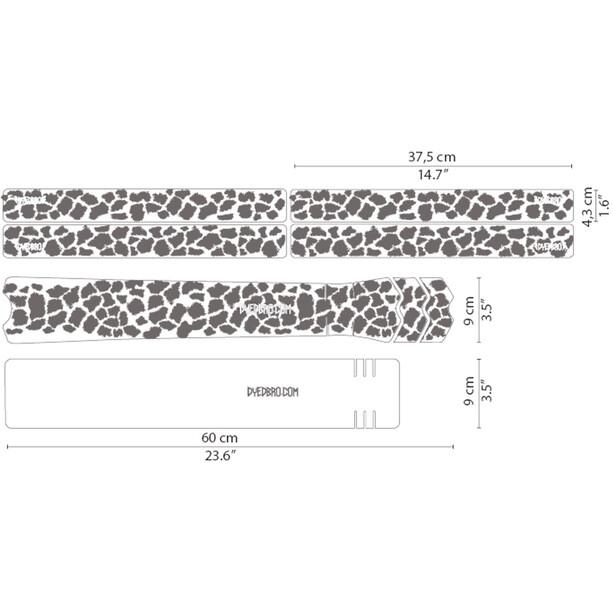 DYEDBRO K Mack Animal Print Rahmenschutz Kit transparent/weiß