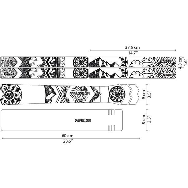 DYEDBRO Mandala Rahmenschutz Kit black