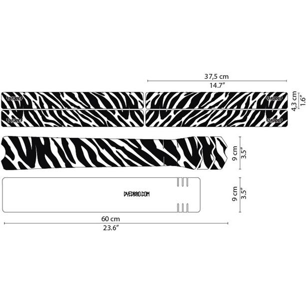 DYEDBRO Zebra Rahmenschutz Kit transparent/schwarz