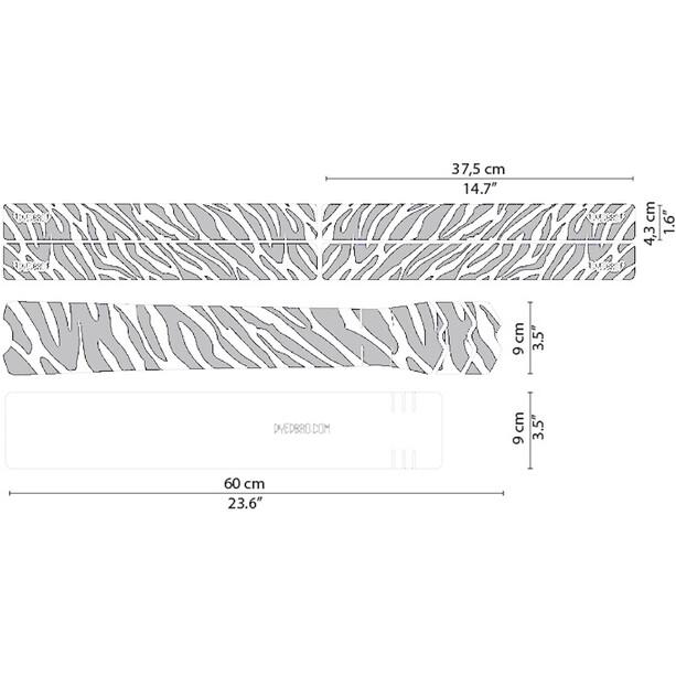 DYEDBRO Zebra Rahmenschutz Kit transparent/weiß
