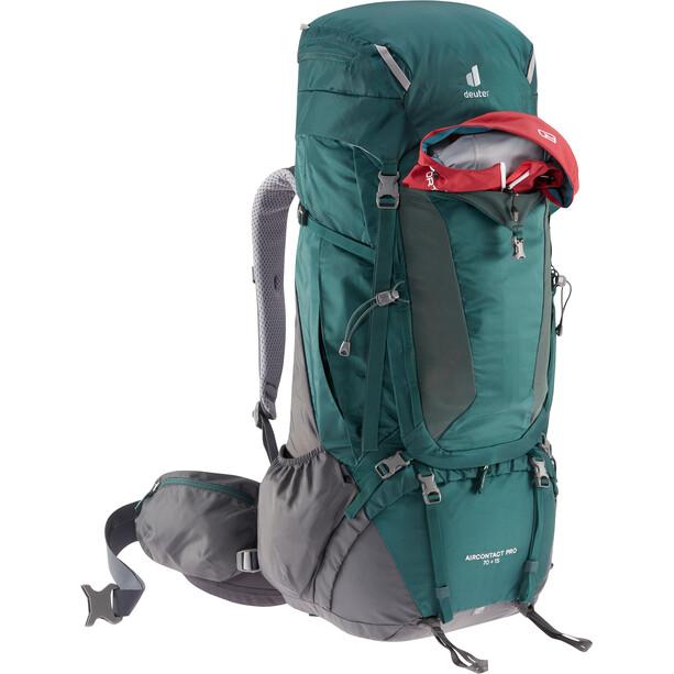 deuter Aircontact PRO 70 + 15 Backpack, vihreä/harmaa