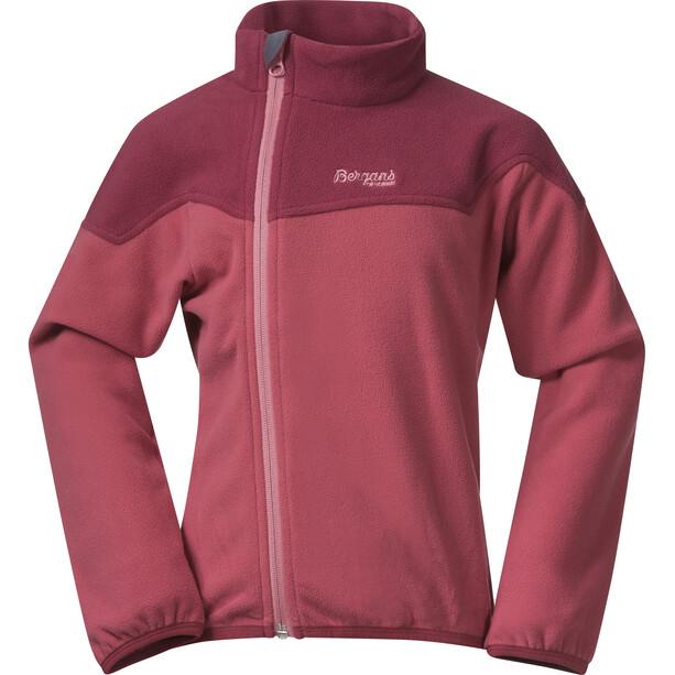 Bergans Ruffen Fleece Jacket Kids creamy rouge/dark creamy rouge