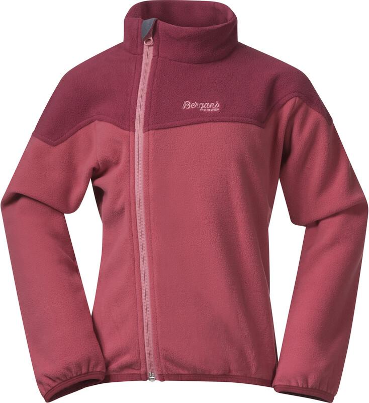 Bergans Ruffen Fleece Jacket Kids creamy rouge/dark creamy rouge 98 2021 Fleecegenser