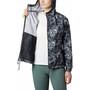Columbia Flash Forward Printed Windbreaker Jacke Damen black rubbed texture