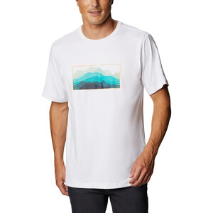 Columbia Tech Trail Graphic T-Shirt Herren white elevated fill white elevated fill