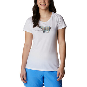 Columbia Daisy Days Kurzarm Graphic T-Shirt Damen white/bear graphic white/bear graphic