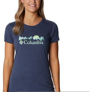 Columbia Daisy Days Kurzarm Graphic T-Shirt Damen nocturnal heather nocturnal heather