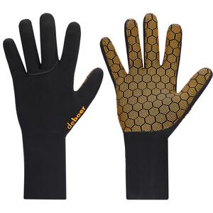 deboer Polar Handschuhe schwarz/gelb schwarz/gelb