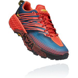 Hoka One One Speedgoat 4 Running Shoes Wide Men fiesta/provincial blue fiesta/provincial blue