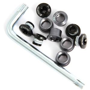 FSA Torx 5-Arm Kettenblattschraubenset schwarz schwarz