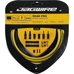 Jagwire Road Pro Brake Cable Kit イエロー