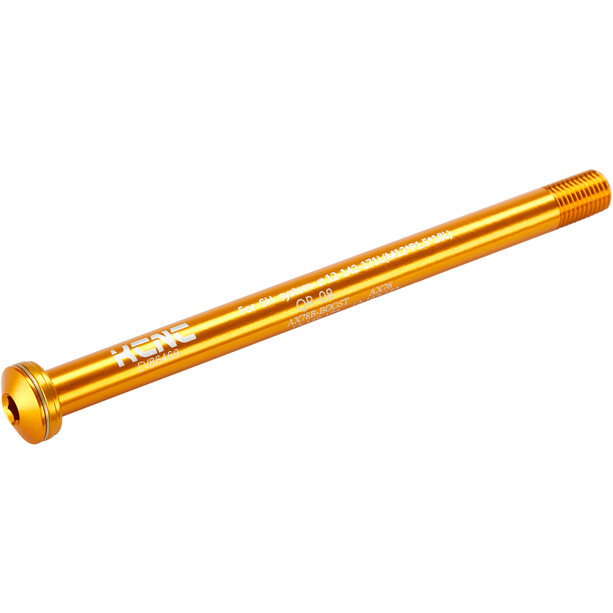 KCNC KQR08-SH Steckachse 12x142mm E-Thru/Fox gold