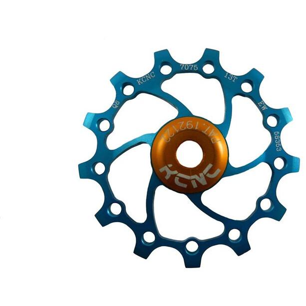 KCNC Original Jockey Wheel 12T SS Bearing Long Teeth, bleu