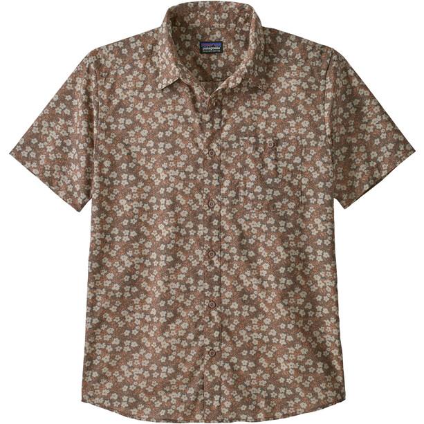 Patagonia Go To Shirt Men floral moss/stingray mauve