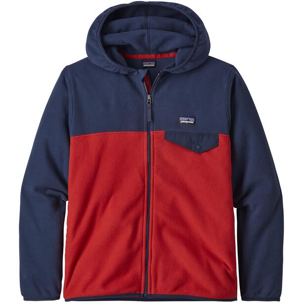 Patagonia Micro D Snap-T Jacket Boys röd/blå