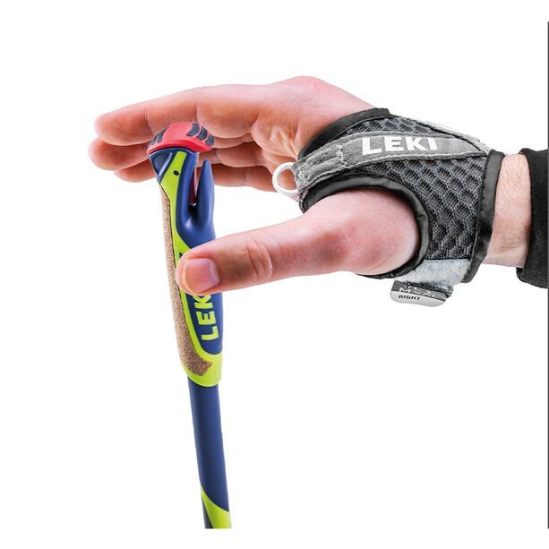 LEKI Micro Flash Carbon Nordic Walking Poles, keltainen/sininen