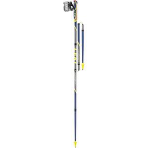 LEKI Micro Flash Carbon Nordic Walking Poles, keltainen/sininen keltainen/sininen