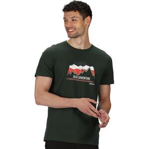 Regatta Breezed T-Shirt Herren deep forest deep forest
