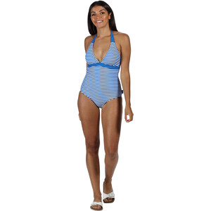 Regatta Flavia Costume Badeanzug Damen strong blue stripe strong blue stripe
