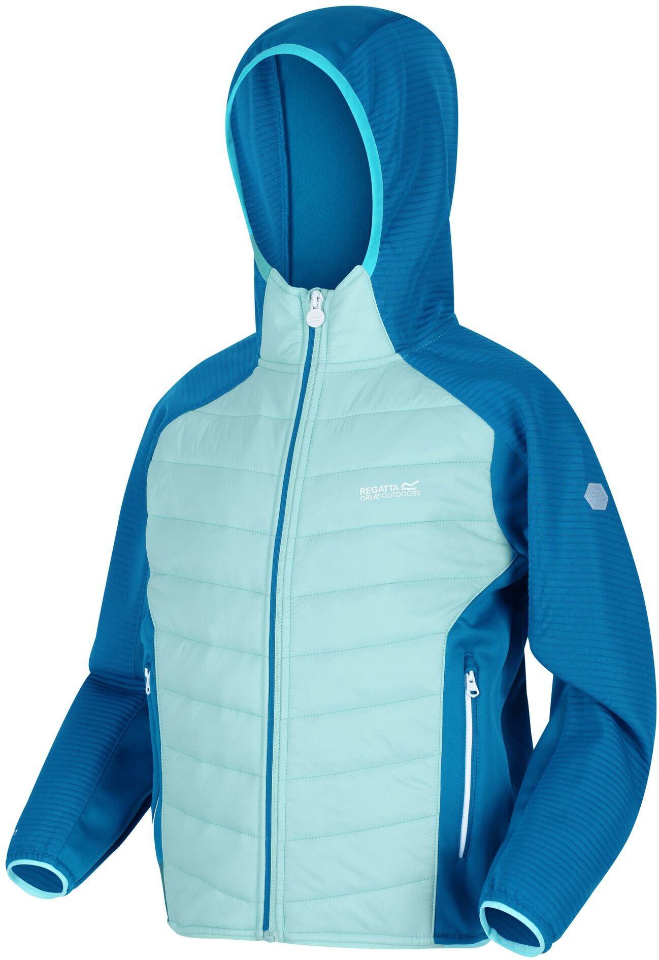 Regatta Kinder Kielder IV Leicht mit Kapuze Hybrid Outdoor Wandern Jacke