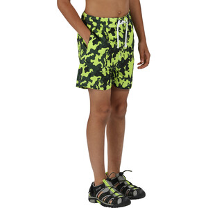 Regatta Skander II Board Shorts Kinder racing green/camo racing green/camo