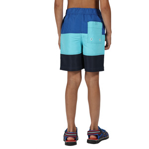 Regatta Shaul III Board Shorts Kids, washed azure/nautical blue washed azure/nautical blue