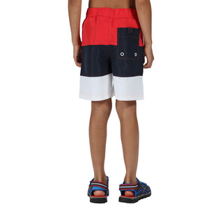 Regatta Shaul III Board Shorts Kids, true red/navy true red/navy