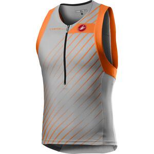 Castelli Free Tri T-shirt zippé Homme, gris/orange gris/orange