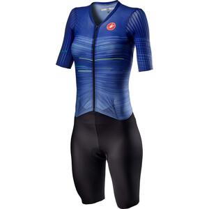 Castelli PR Speed Anzug Damen blau/schwarz blau/schwarz