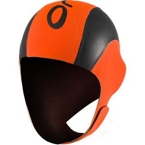 ORCA High Vissibility Neoprene Swim Cap orange/svart orange/svart