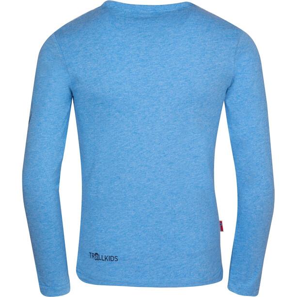 TROLLKIDS Oslo Longsleeve Shirt Kids, medium blue
