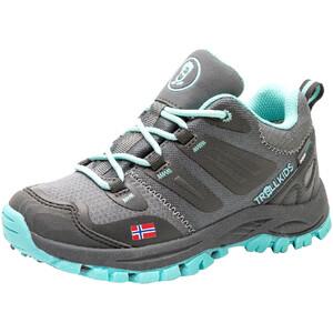 TROLLKIDS Rondane Hiker Low Shoes Kids, szary/turkusowy szary/turkusowy