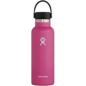 Hydro Flask Standard Mouth Flasche mit Standard Flex Deckel 532ml pink pink