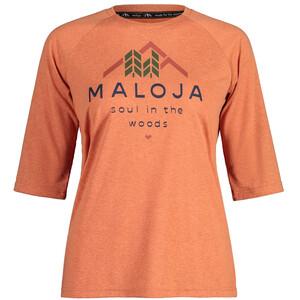 Maloja HimbeereM. 3/4 Sleeve All Mountain Jersey Women, orange orange