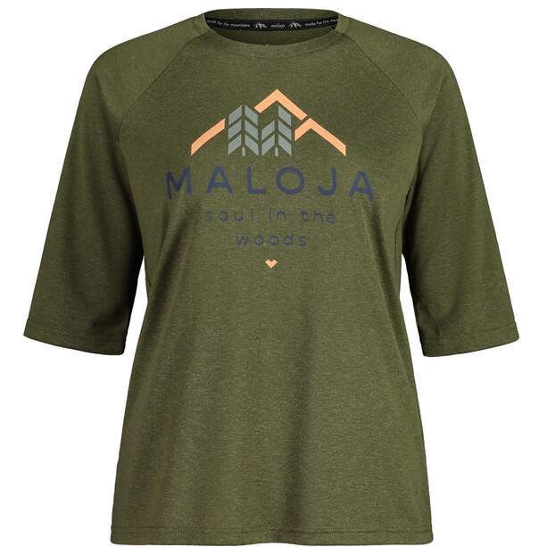 Maloja HimbeereM. 3/4 Sleeve All Mountain Jersey Women, moss