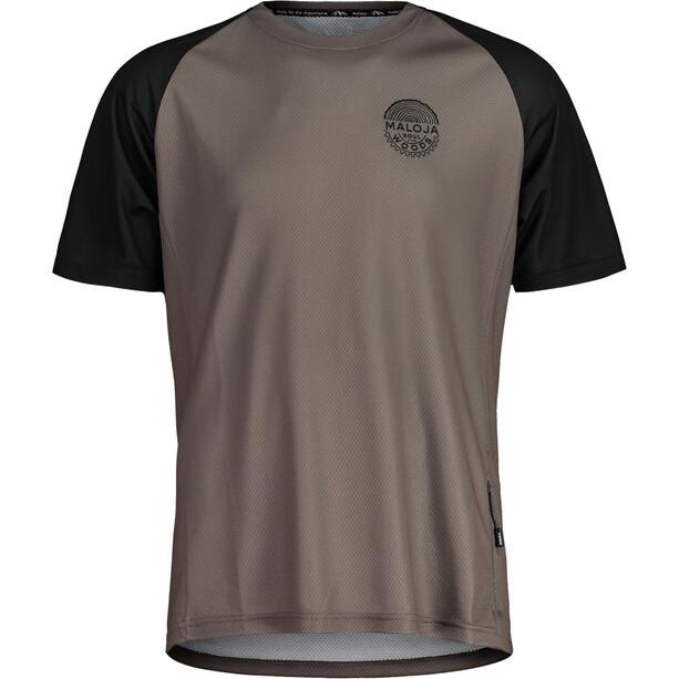 Maloja StachelbeereM. Multi Short Sleeve Multisport Jersey Men, gris/noir