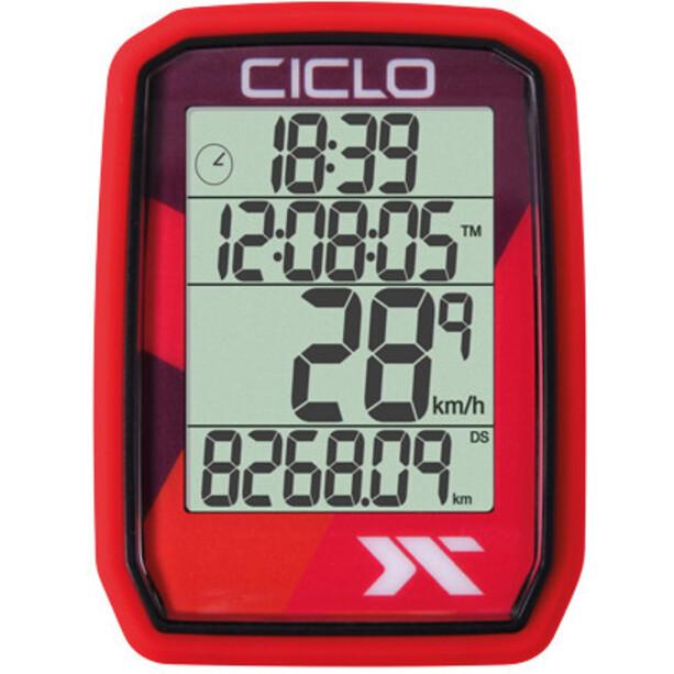 Ciclosport Protos 205 Cykelcomputer, rød