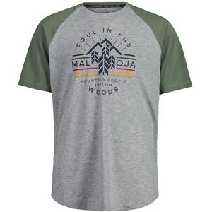 Maloja BlaubeereM. Short Sleeve Multisport Jersey Men, grijs/groen grijs/groen